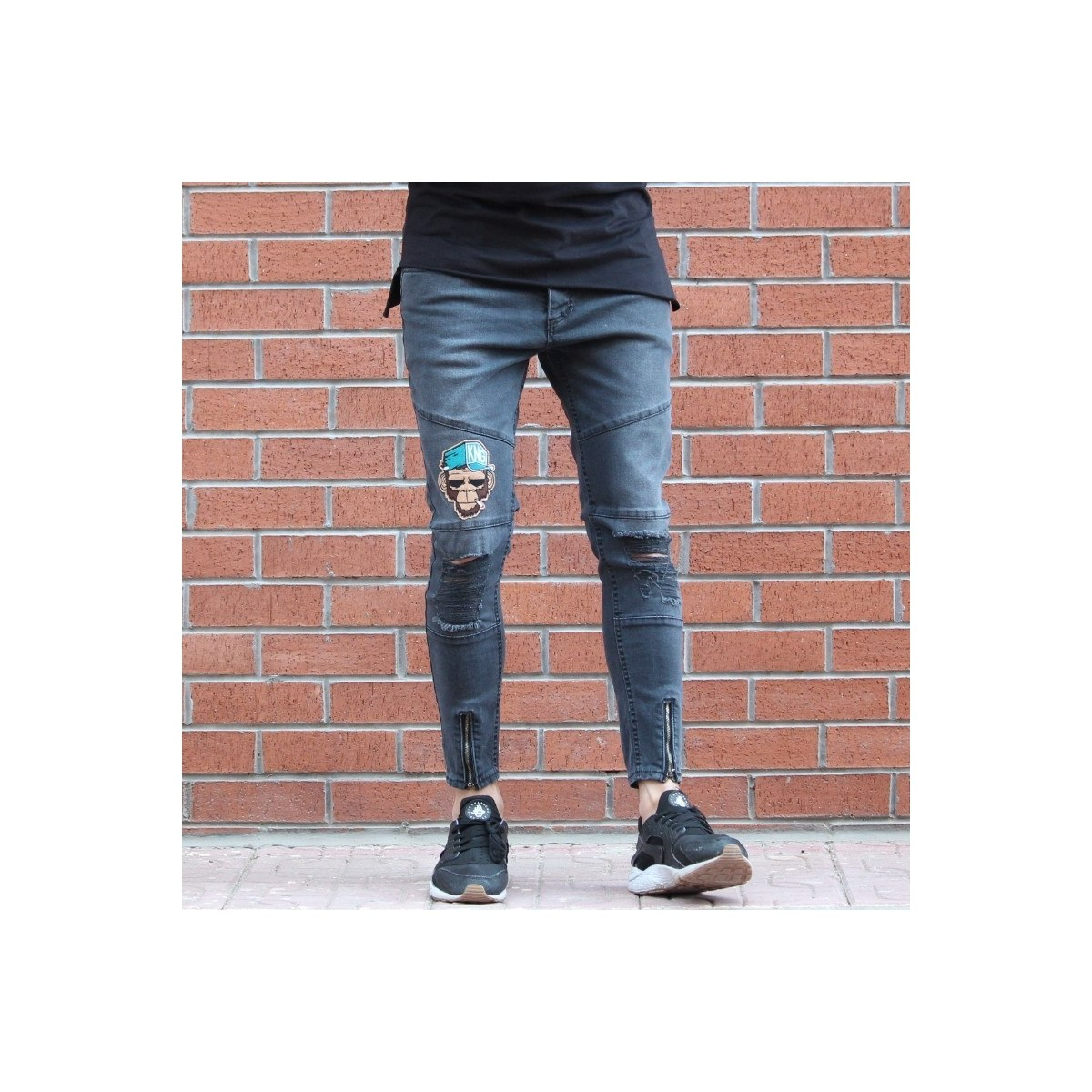 Men's Jeans With Rips and...