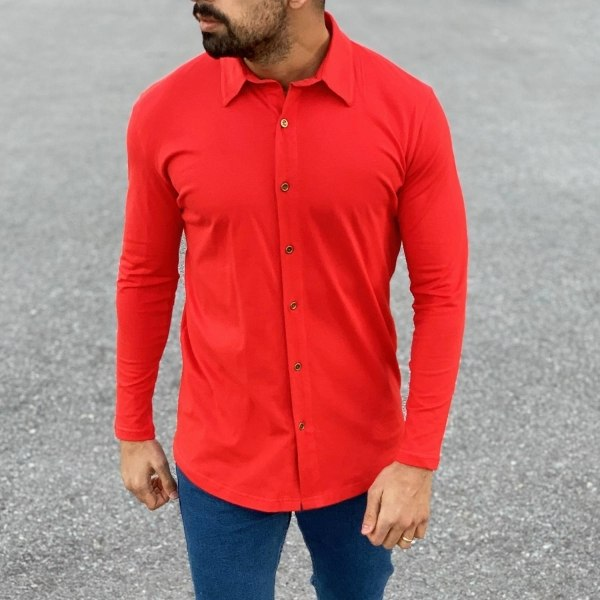 Slim-Fit Button-up Shirt in...