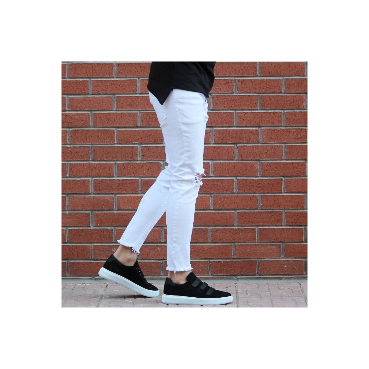 Men's Skinny Fit Jeans With...