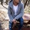 Well-soft Winter Hoodie Jacket in Gray Mv Premium Brand - 2