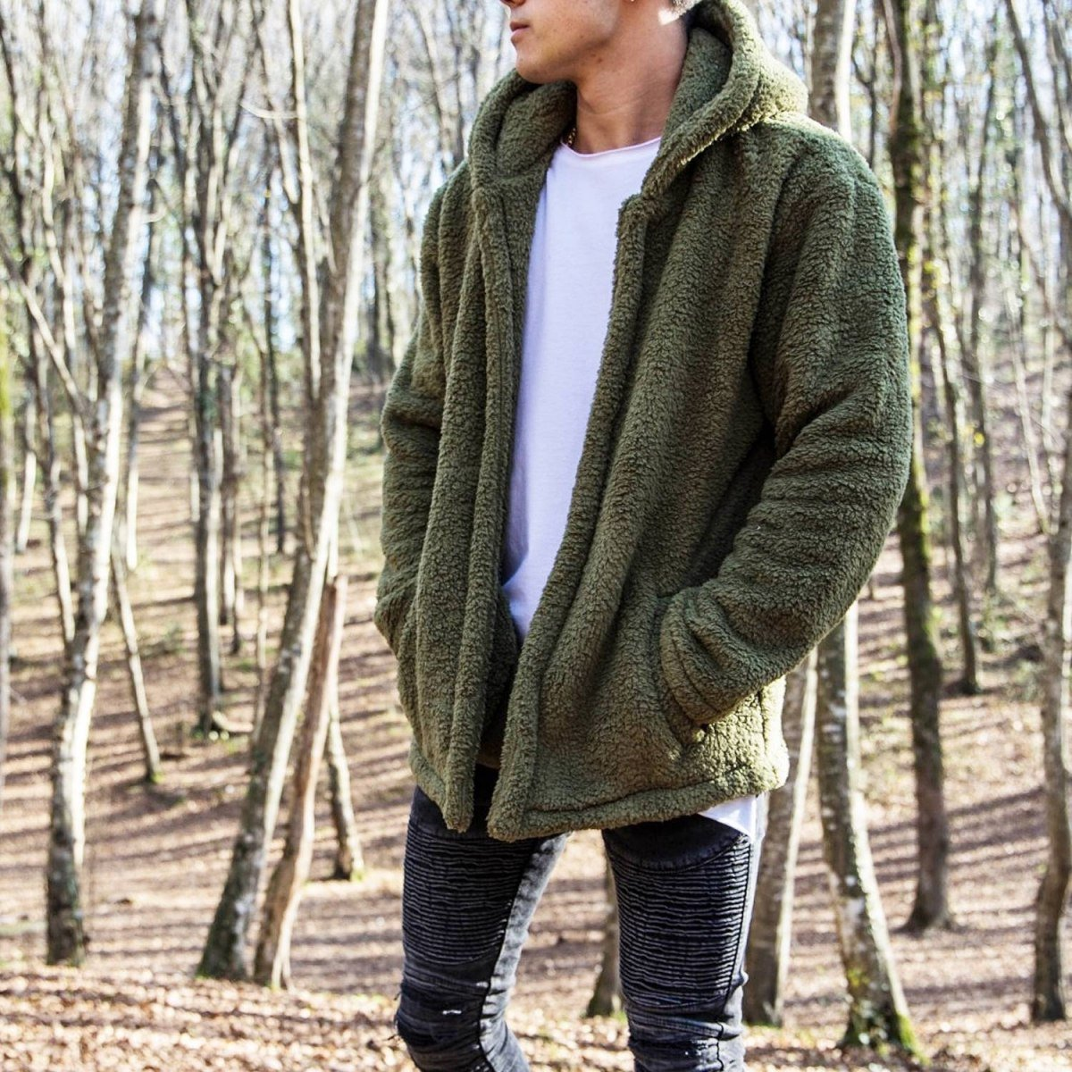 Well-soft Winter Hoodie Jacket in Khaki