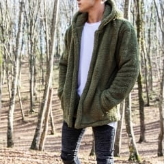 Well-soft Winter Hoodie Jacket in Khaki Mv Premium Brand - 2