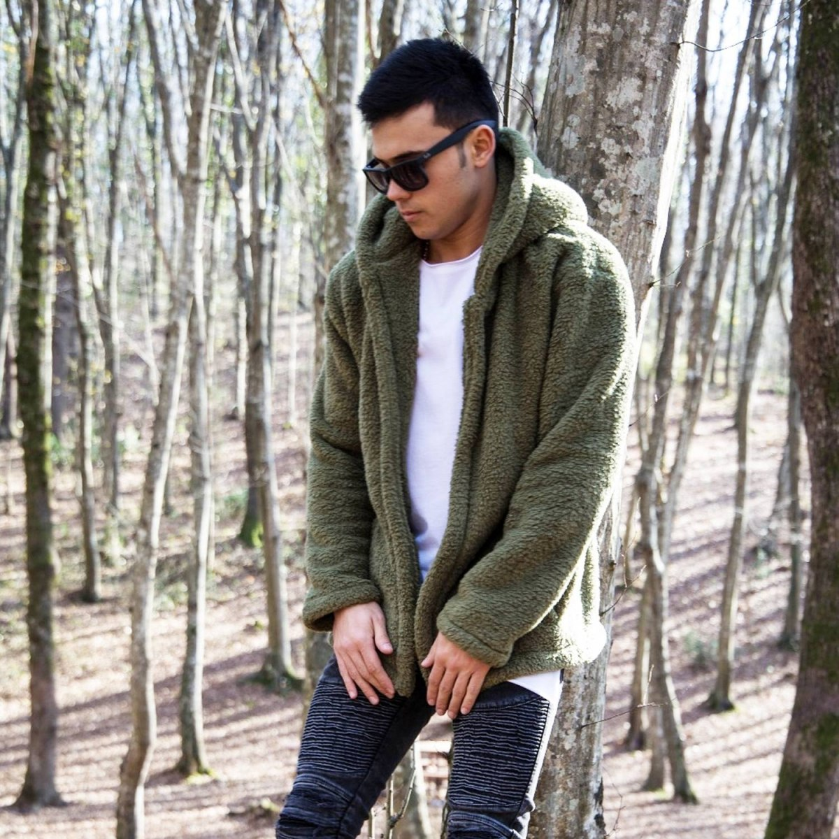 Well-soft Winter Hoodie Jacket in Khaki Mv Premium Brand - 3