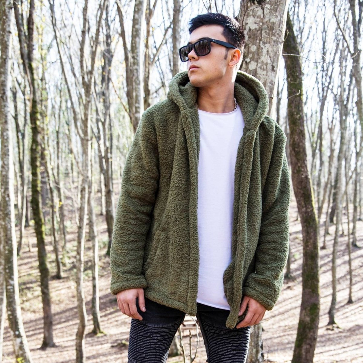 Well-soft Winter Hoodie Jacket in Khaki Mv Premium Brand - 4