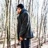 Men's Wellsoft Winter Furry Cardigan With Hood Black Mv Premium Brand - 4