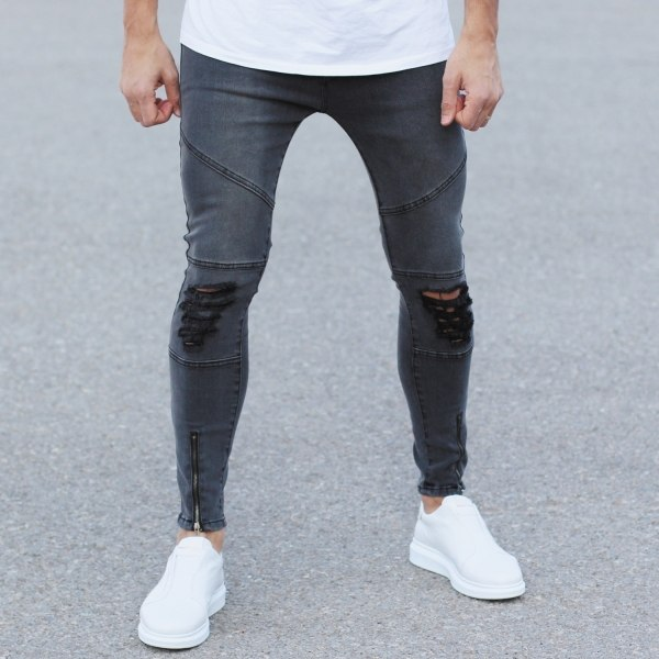 Grey Sim-Fit Jeans With...