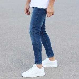 Regular Blue Fade Denim Jeans Mv Premium Brand - 1