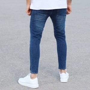 Regular Blue Fade Denim Jeans Mv Premium Brand - 2