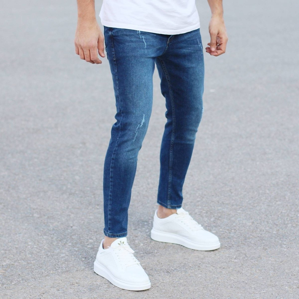 Regular Blue Fade Denim Jeans