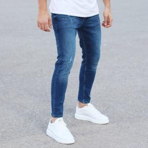 Regular Blue Fade Denim Jeans Mv Premium Brand - 3