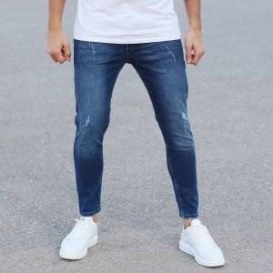 Regular Blue Fade Denim Jeans Mv Premium Brand - 4