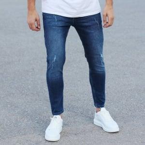 Regular Blue Fade Denim Jeans Mv Premium Brand - 5