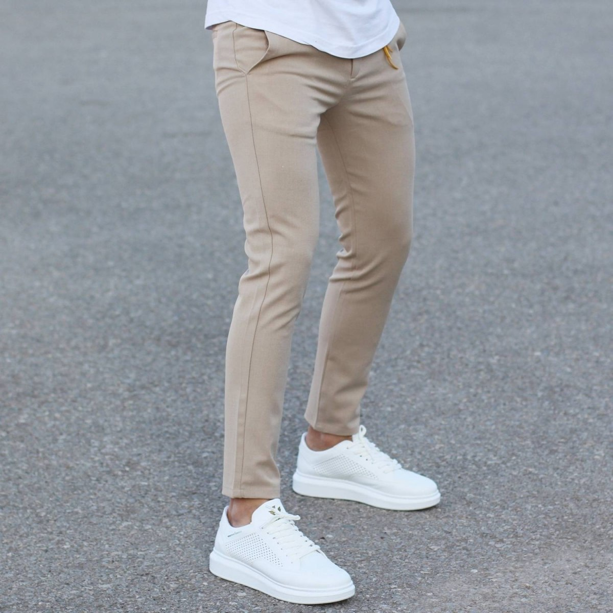 Comfort Smart-Wear Pants in Beige Mv Premium Brand - 4