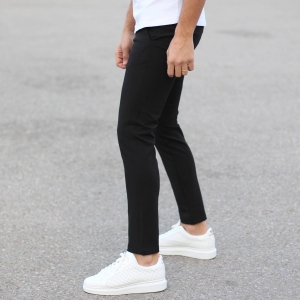 Slim Smart-Wear Pants in Black Mv Premium Brand - 1