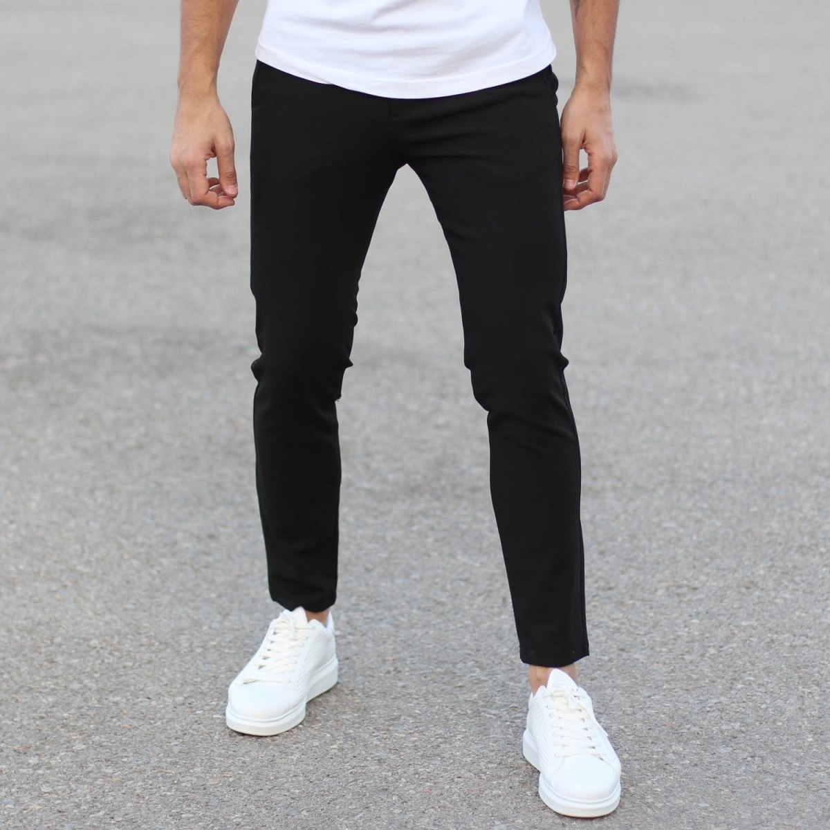 Slim Smart-Wear Pants in Black
