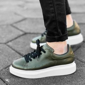 Hype Sole Sneakers in Khaki-White - 1