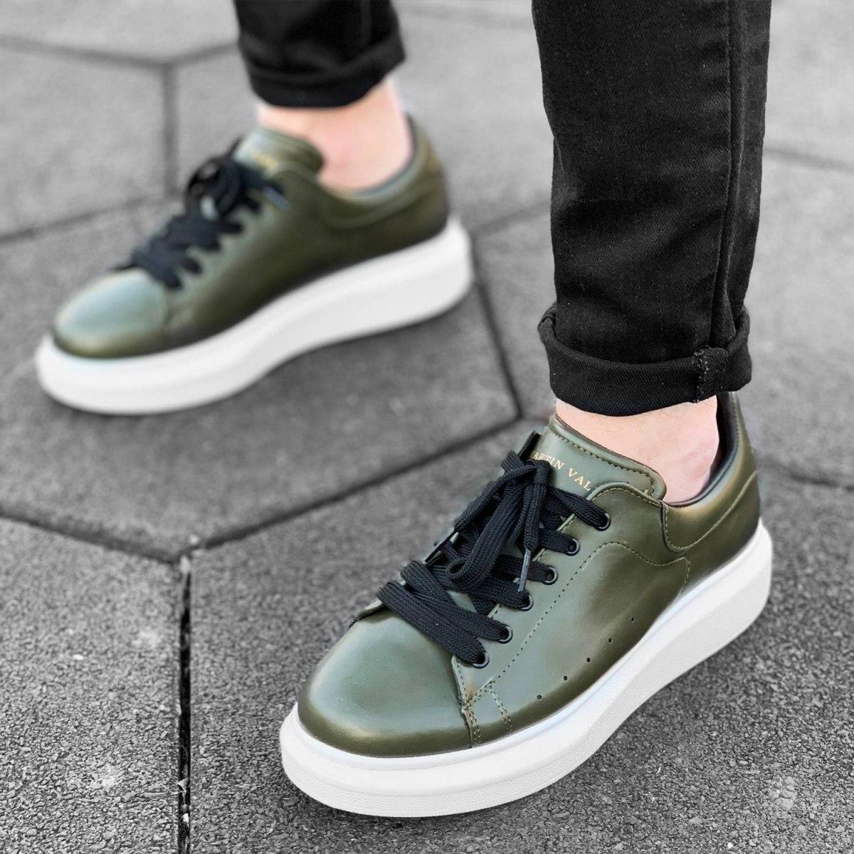 Hype Sole Sneakers in Khaki-White - 2