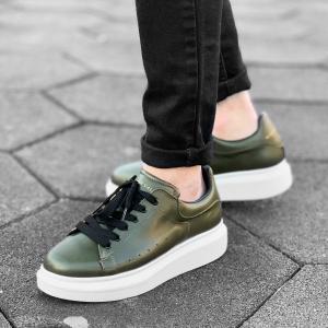 Hype Sole Sneakers in Khaki-White - 3
