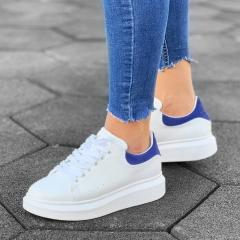 Martin Valen Women High Sole Sneakers White&Blue - 1