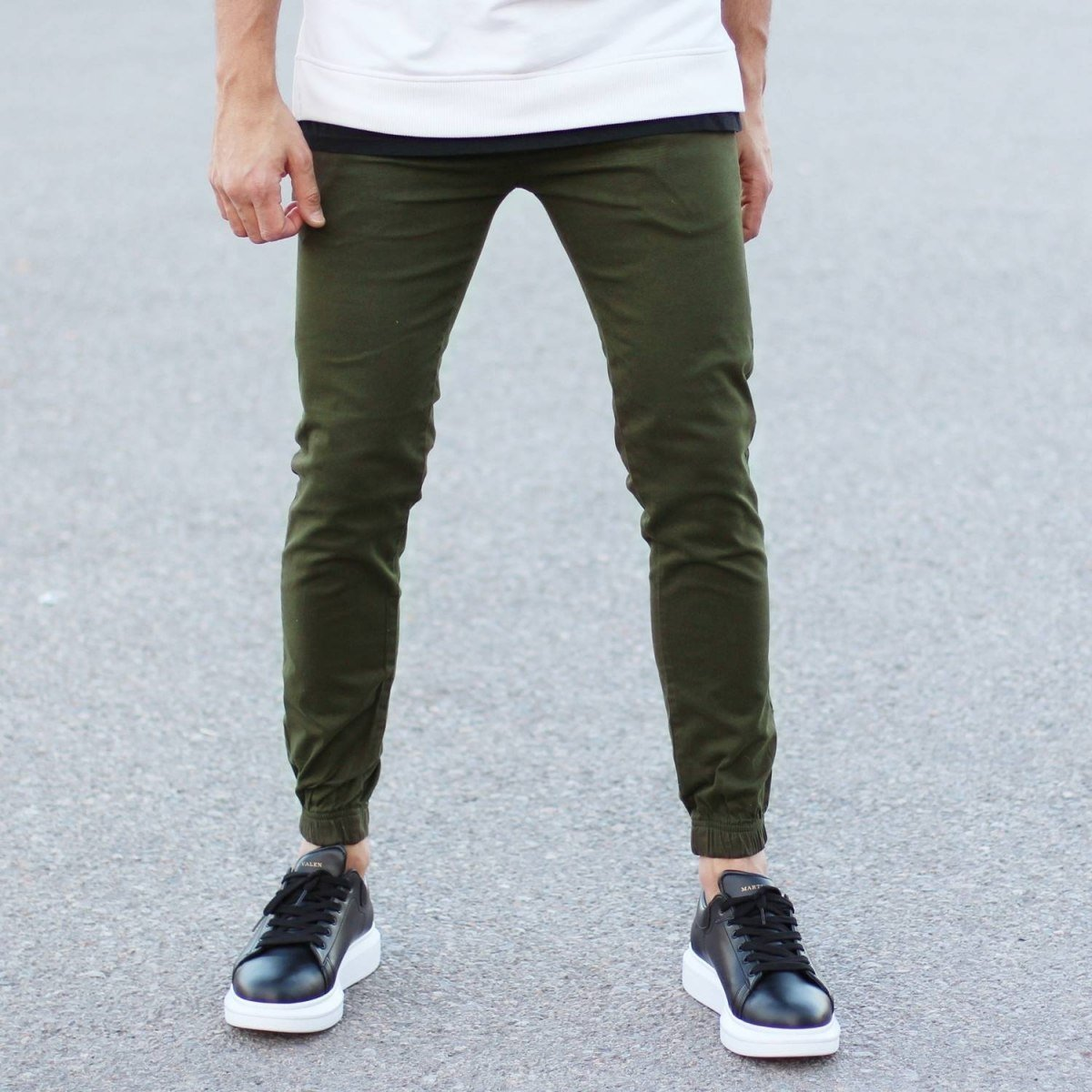 Men's Gabardine Casual Pants In Khaki Mv Premium Brand - 2