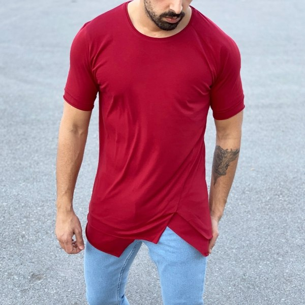Men's Long Basic T-Shirt In...