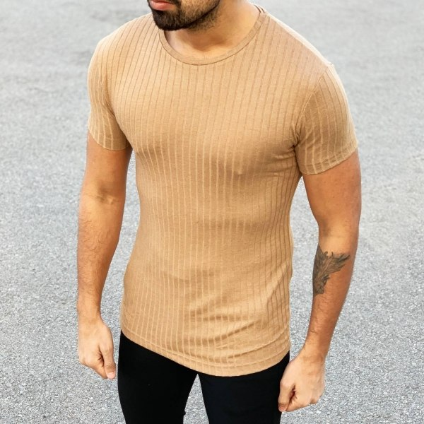 Men's Slim Fit Wide Neck...