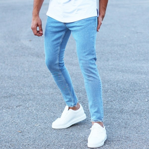 Men's Basic Slim Blue Jeans