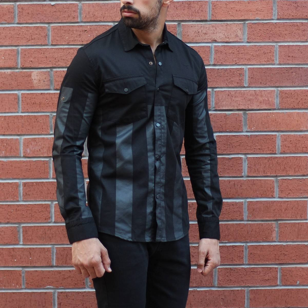 Men's Slim Fit Shirt With...