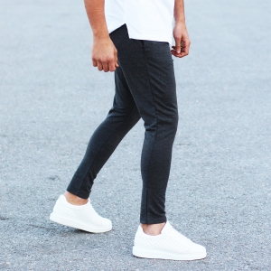 Men's Stylish Sport Pants In Gray Mv Premium Brand - 1