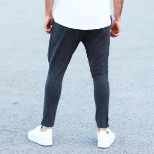 Men's Stylish Sport Pants In Gray Mv Premium Brand - 2