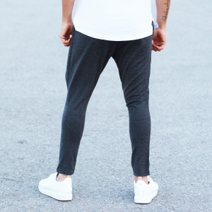 Men's Stylish Sport Pants In Gray Mv Premium Brand - 2