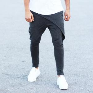 Men's Stylish Sport Pants In Gray Mv Premium Brand - 3