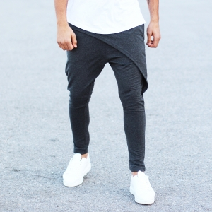 Men's Stylish Sport Pants In Gray Mv Premium Brand - 3