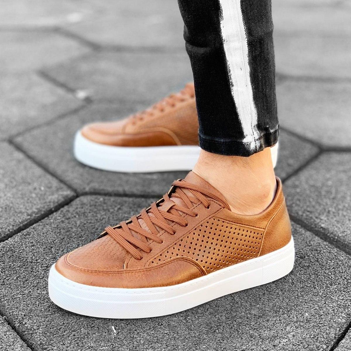 Plexus Sneakers in Tan-White Mv Premium Brand - 1