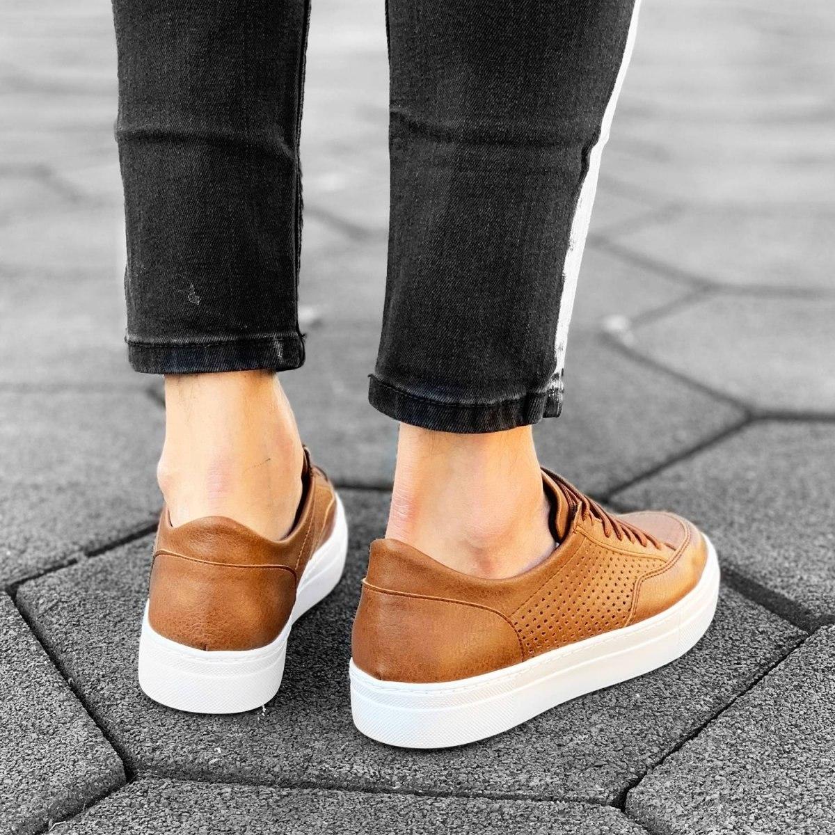 Plexus Sneakers in Tan-White Mv Premium Brand - 2