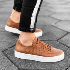 Plexus Sneakers in Tan-White Mv Premium Brand - 3