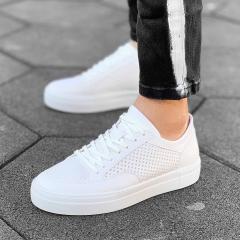 Plexus Sneakers in Full White Mv Premium Brand - 2