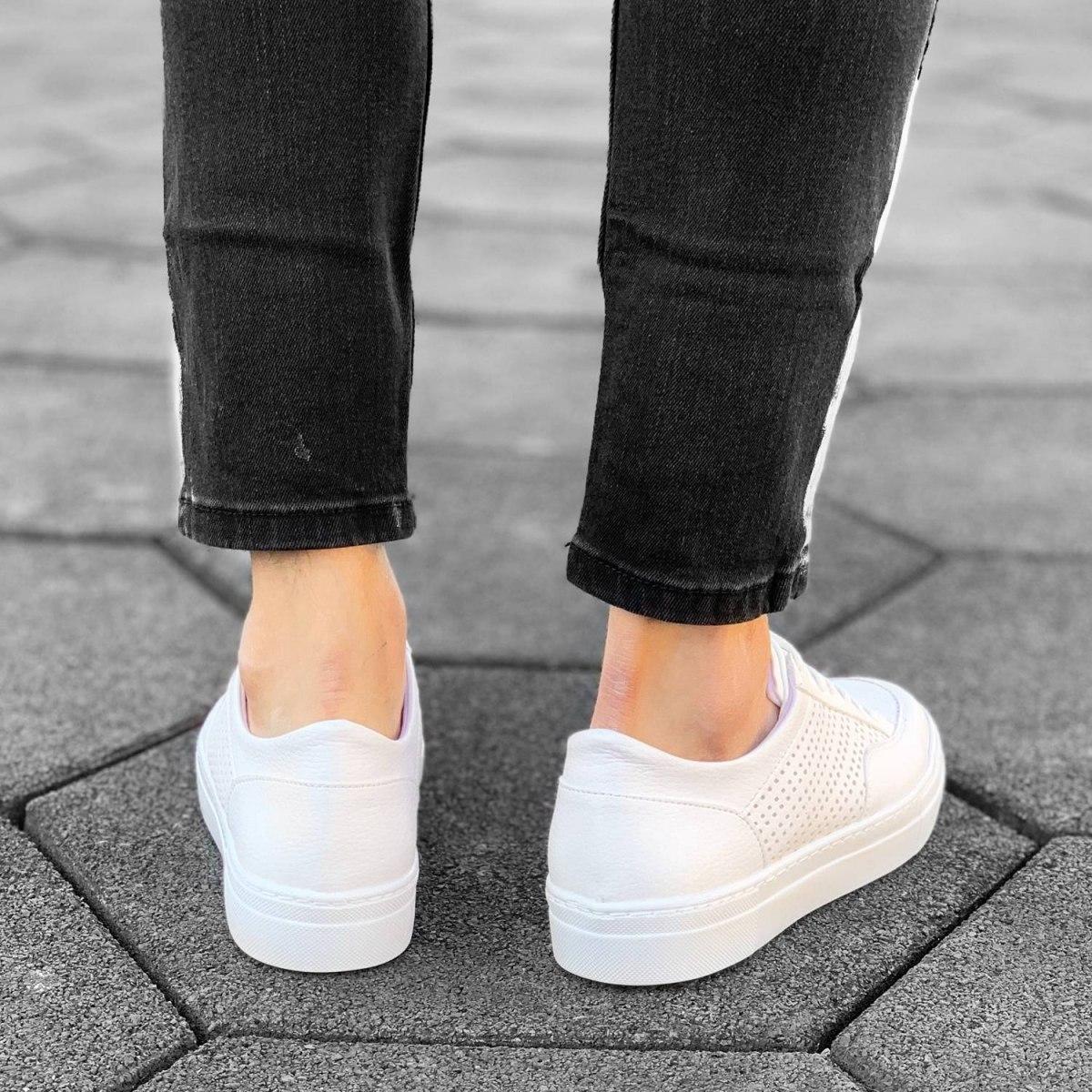 Plexus Sneakers in Full White Mv Premium Brand - 3