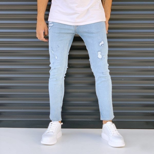 Men's Slim Fit Jeans With...
