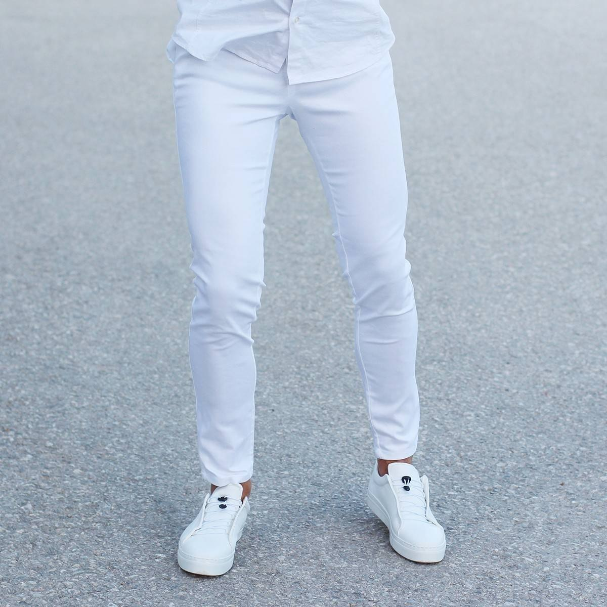 Men's Skinny Trousers Cool Edition in New White MV Jeans Collection - 1