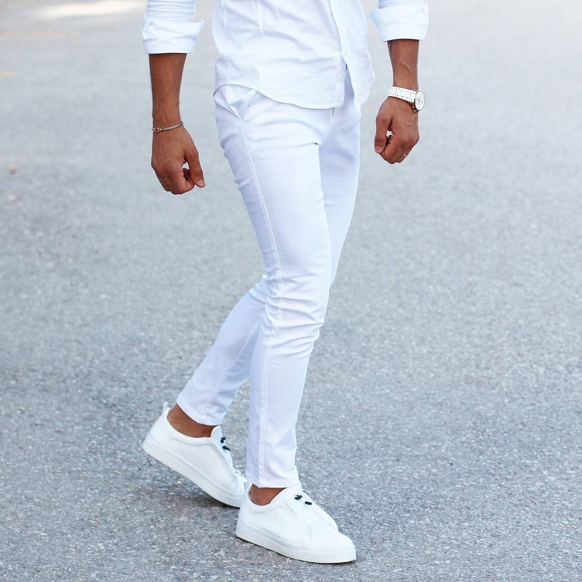Men's Skinny Trousers Cool Edition in New White MV Jeans Collection - 2