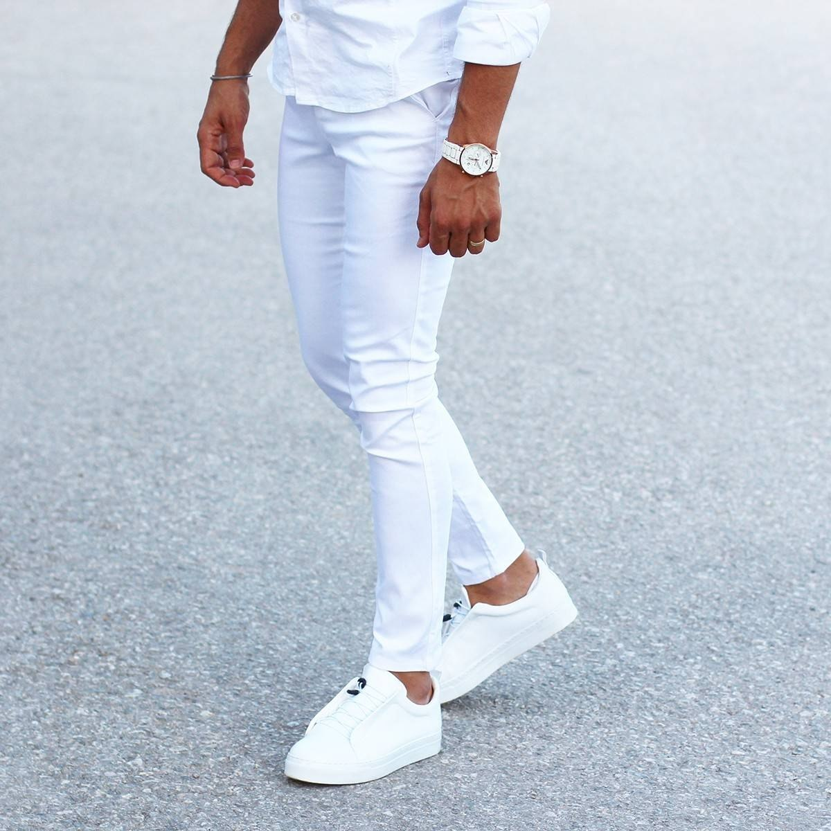 Men's Skinny Trousers Cool Edition in New White MV Jeans Collection - 3