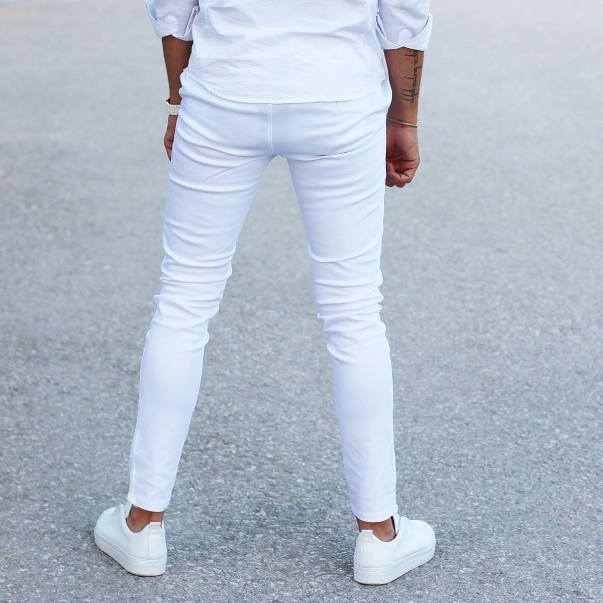 Men's Skinny Trousers Cool Edition in New White MV Jeans Collection - 4