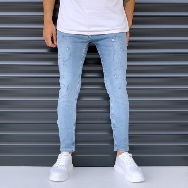 Men's Basic Jeans With...