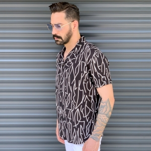 Men's Short Sleeved Summer Shirt In Brown Mv Premium Brand - 2