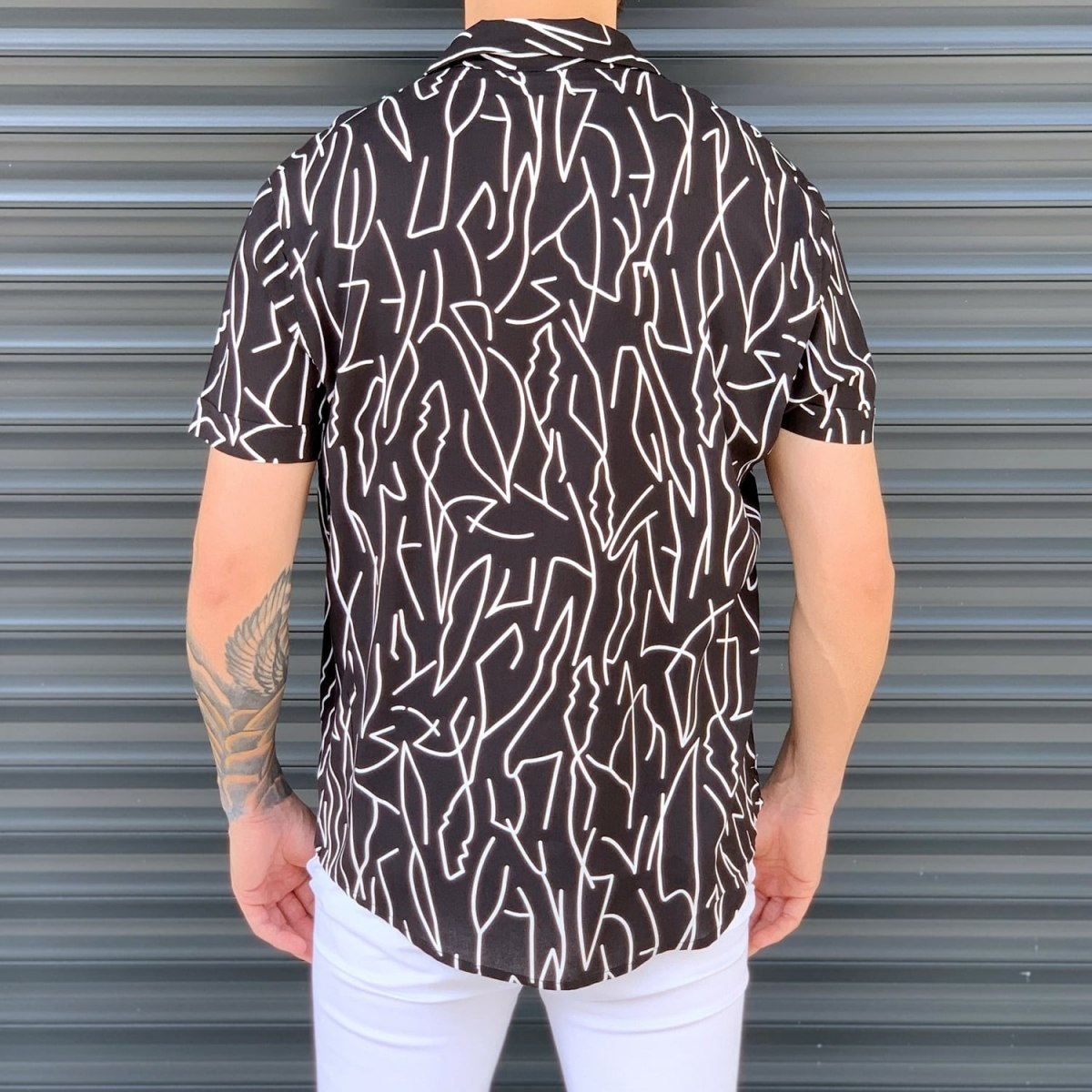 Men's Short Sleeved Summer Shirt In Brown Mv Premium Brand - 3
