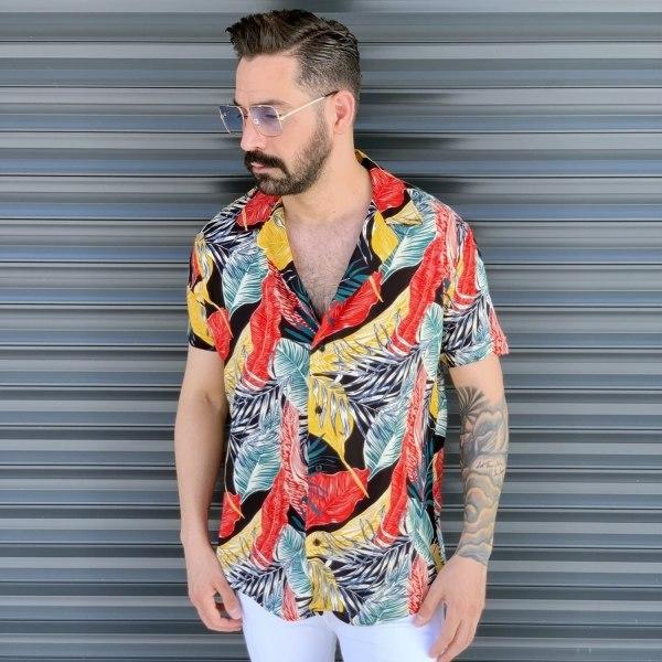 Men's Short Sleeved Colored...