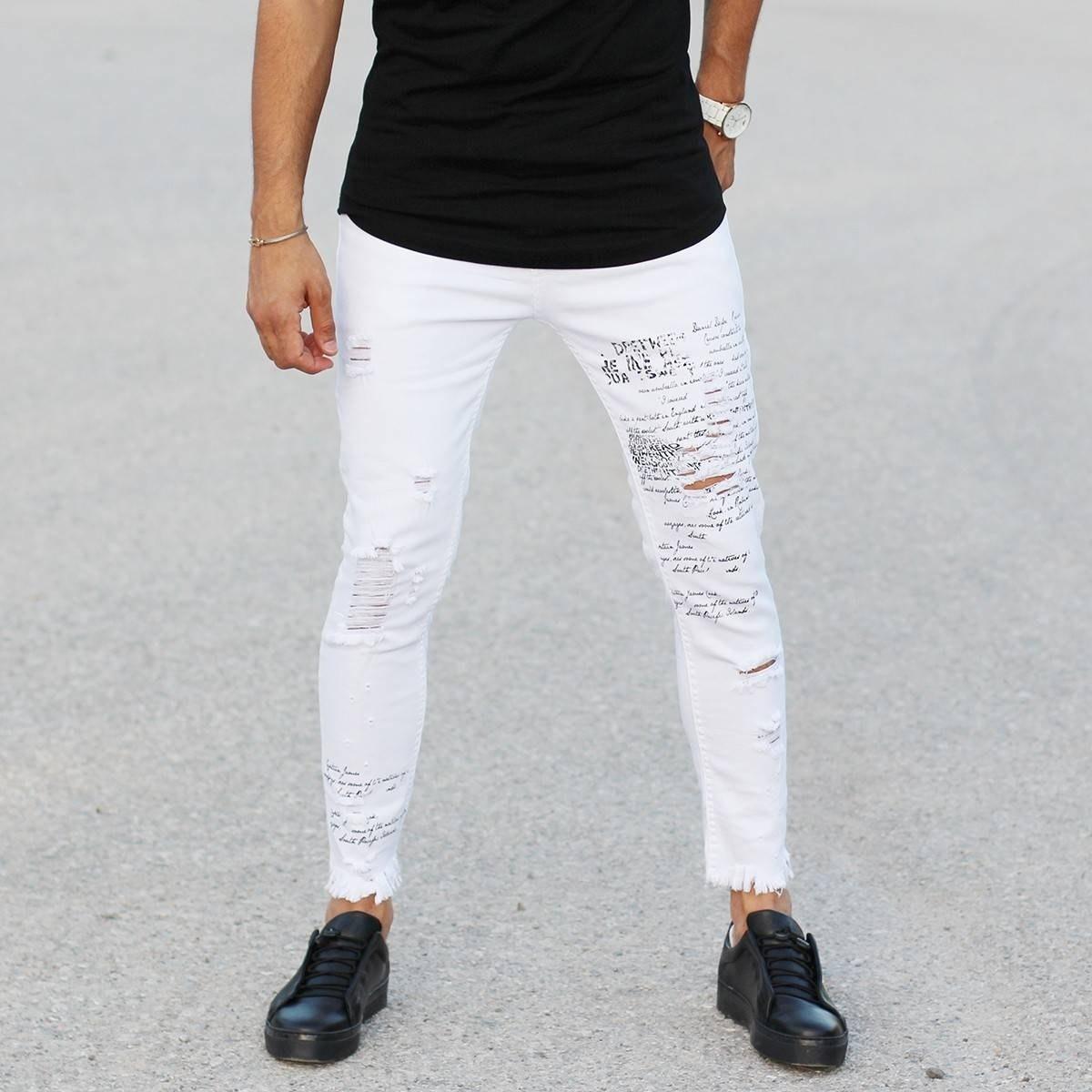 Men's Skinny Printed Jeans...
