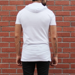 Men's King Printed Tall Hooded T-Shirt White MV T-shirt Collection - 3