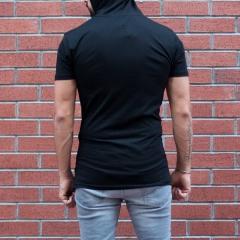Men's King Printed Tall Hooded T-Shirt Black MV T-shirt Collection - 3